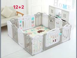 Cod Ok High Quality Gray White Folding Playpen Baby Fence 12 2 Panels Babies Kids Others On Carousell