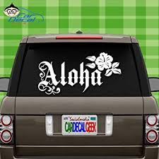 Amazon Com Car Decal Geek Aloha Hibiscus Flower Hawaii Vinyl Decal Sticker Bumper Cling For Car Truck Window Laptop Macbook Wall Cooler Tumbler Die Cut No Background Multi Sizes Colors Pink 14 Automotive