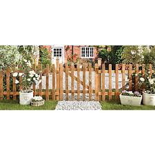 Forest Garden Palisade Round Top Timber Gate 900 X 900 Mm Wickes Co Uk