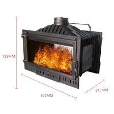 double sided wood burning fireplace