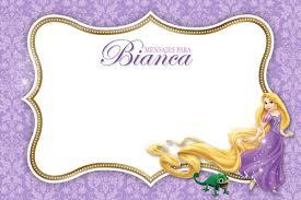 Invitaciones Kit Imprimible Rapunzel Enredados Princesas