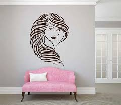 Ik2880 Wall Decal Sticker Beautiful Girl Face Beauty Lounge Wall Decal Sticker Wall Decals Shop Wall Decor