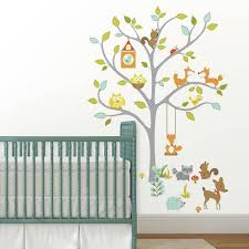 Woodland Fox And Friends Tree Peel And Stick Wall Decal Roommates Target