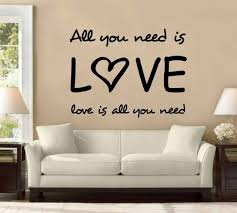 31 All You Need Is Love All You Need Wall Decal Sticker The Beatles Music Decor For Sale Online