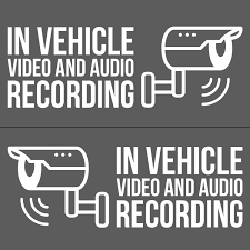 Lyft White 5 5 W Uber Dashcam Security Decal 2x For Driver Side 2x For Passenger Side
