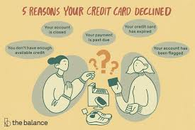 why your credit card was declined