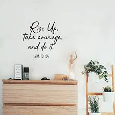 Amazon Com Vinyl Wall Art Decal Rise Up Take Courage And Do It 20 X 22 Religious Ezra 10 04 Bible Verse Faithful Quote For Home Bedroom Living Room Office Church