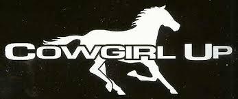 Running Horse Cowgirl Up Window Sticker Decal Horses Horse Trailer Running Horses