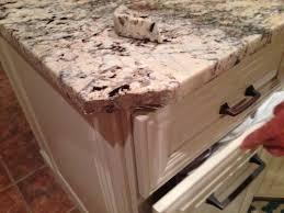 corner of granite countertop broken