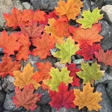 500 Pcs 10 Colors Assorted Fake Silk Autumn Maple Leaves Bulk Fall Leaf Foliage For Sale Online Ebay