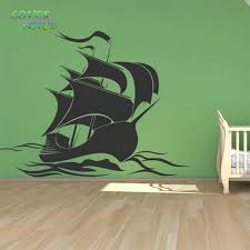 Pirate Ship Wall Stickers Pirate Wall Decal Art Wall Sticker For Kids Room Home Decor Lp58145 Sticker For Kids Room Wall Stickers For Kidsart Wall Sticker Aliexpress