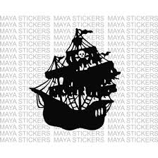 Pirate Ship Decal Sticker In Custom Colors And Sizes For Cars Bikes Laptops And Wall