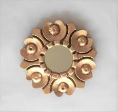 round mirror decorative gold frame