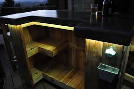 patio bar plans concrete counter and