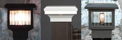 Low Voltage Post Cap Lights Mini 2x2 3x3 Posts