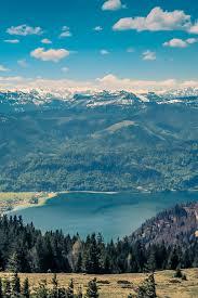 mountain sky river nature scenery