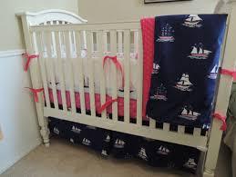nautical sail away baby bedding set
