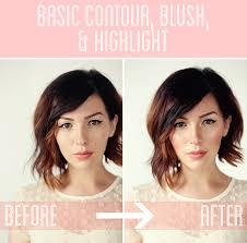 contour blush and highlight tutorial