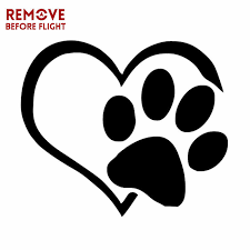 Heart Paw Vinyl Decal Funny Animal Cat Paw Print On Board Sticker Motorcycle Car Sticker Styling Accessories Car Stickers Aliexpress