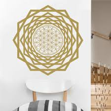 Eyvaldecal Flower Of Life With Tunnel Sacred Geometry Vinyl Wall Decal Wayfair