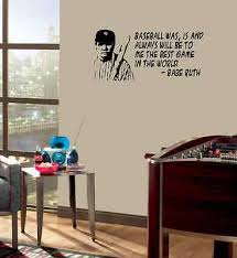 Babe Ruth Wall Quote Baseball Vinyl Wall Lettering Quote Wall Art Decor Sticker Ebay