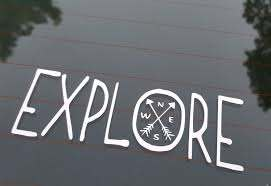 Decal Explore Compass Laptop Decal Laptop Sticker Phone Decal Phone Sticker Car Sticker Car Decal Window Decal Window Sticker Sold By Stickersforyouall On Storenvy