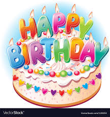 Birthday cake Royalty Free Vector Image - VectorStock