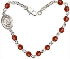 4mm fire polished rosary bracelet 7 25