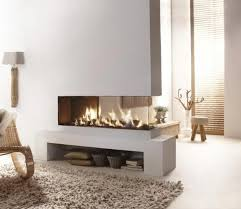 ventless gas fireplace 2 sided fire