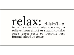 Relax Definition Vinyl Decal Large Yellow Newegg Com