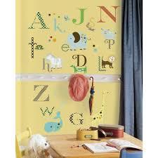 Roommates Animal Alphabet Peel Stick Wall Decal Target
