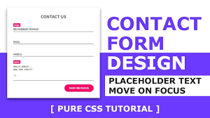 design with html and css