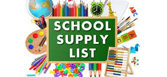 School Supply Lists K-8 - Three Creeks K-8
