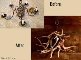 diy deer antler chandelier the mom of