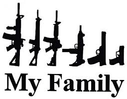 Amazon Com My Family Guns Vinyl Decal Sticker Cars Trucks Vans Walls Laptops Cups Black 7 X 5 5 Inches Kcd1027 Automotive