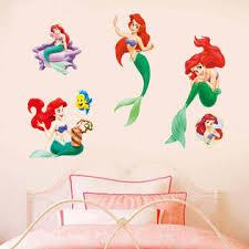 International Gifts The Little Mermaid Wall Stickers Cute Cartoon Vinyl Princess Room Art Decor