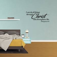 Wall Decal Quote I Can Do All Things Through Christ Who Strengthens Me Philippians 4 13 Decor Bible Verse Vinyl Sticker Jp688 Walmart Com Walmart Com