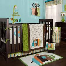 zutano elephants 4pc crib bedding set