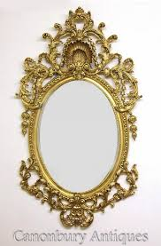 louis xvi rococo oval mirror gilt frame