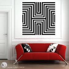Diamond Optical Illusion Oversized Wall Decal Graphicsmesh