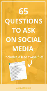 social media questions to increase engagement angie gensler