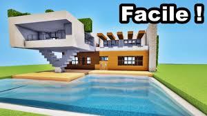minecraft tuto belle maison moderne