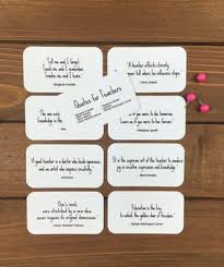 teacher quote cards set of mini quote cards whimsicals paperie
