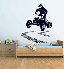Atv Wall Decal Atv Rider Wall Decal Atv Decal Decor Atv Kids Bedroom Wall Decor 4 Wheeler Off Road Sports Wall Decals Kids Bedroom Wall Decor Sticker Wall Art