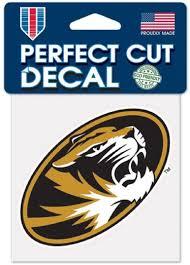 Amazon Com Missouri Tigers M Logo With Tiger 4 Vinyl Decal Mizzou Car Truck Sticker Automotive