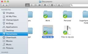 zip files in just two steps in mac os x