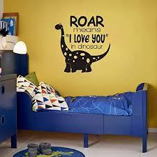 Amazon Com Flywalld Dinosaur Wall Decals Baby Boy Room Nursery Vinyl Art Quotes Decor Paleontologist Sticker Decor Roar Means I Love You In Dinosaur Arts Crafts Sewing