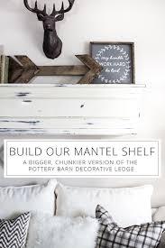 build a faux mantel shelf for your