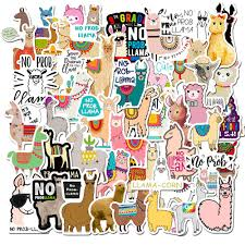 2020 Pack Of Cute Alpaca Stickers Lama Pacos No Prob Lovely Vinyl Decals Car Laptop Skateboard Computer Sticker Decal Pack Wholesale From Autoparts2006 2 12 Dhgate Com