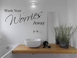 Bathroom Wash Your Worries Away Wall Art Sticker Modern Etsy